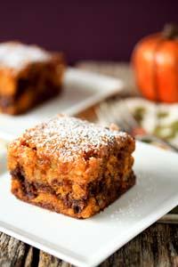 Pumpkin chocolate swirl brownies