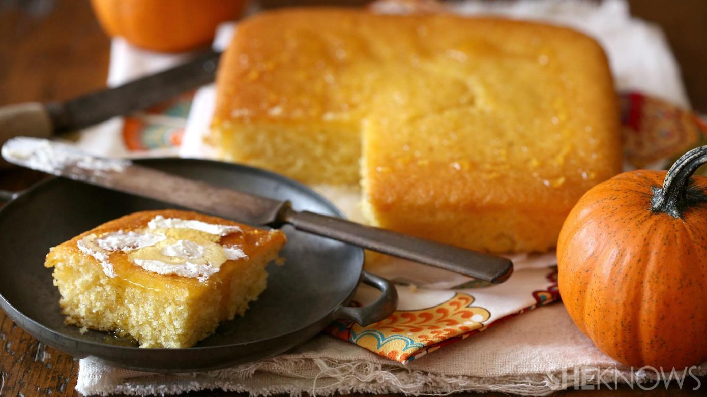 Pumpkin-honey cornbread