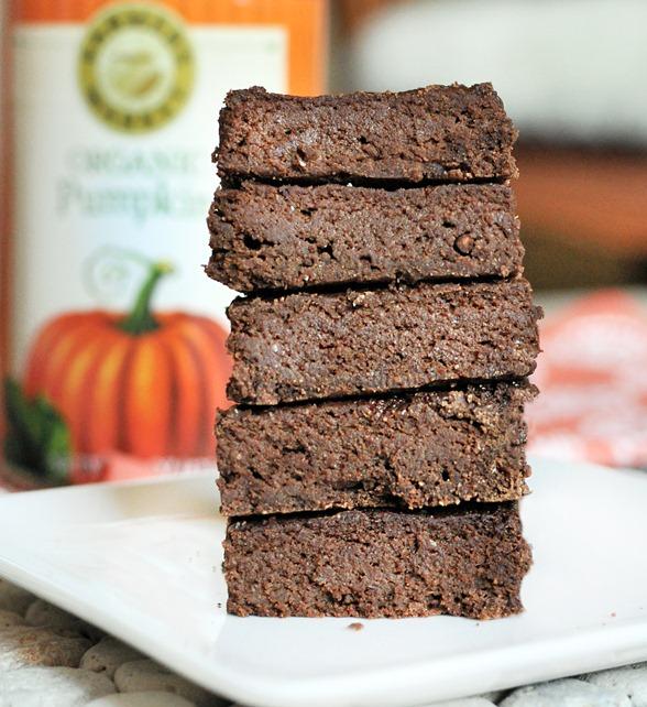 Pumpkin spiced brownies