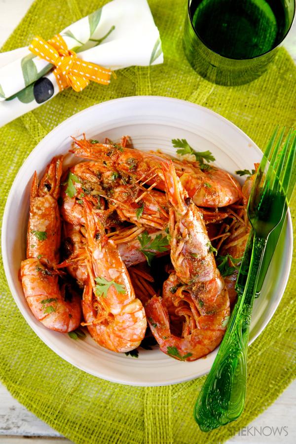 Quick and easy garlic-cognac shrimp recipe