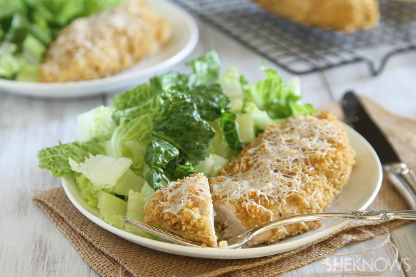 Quinoa crusted chicken