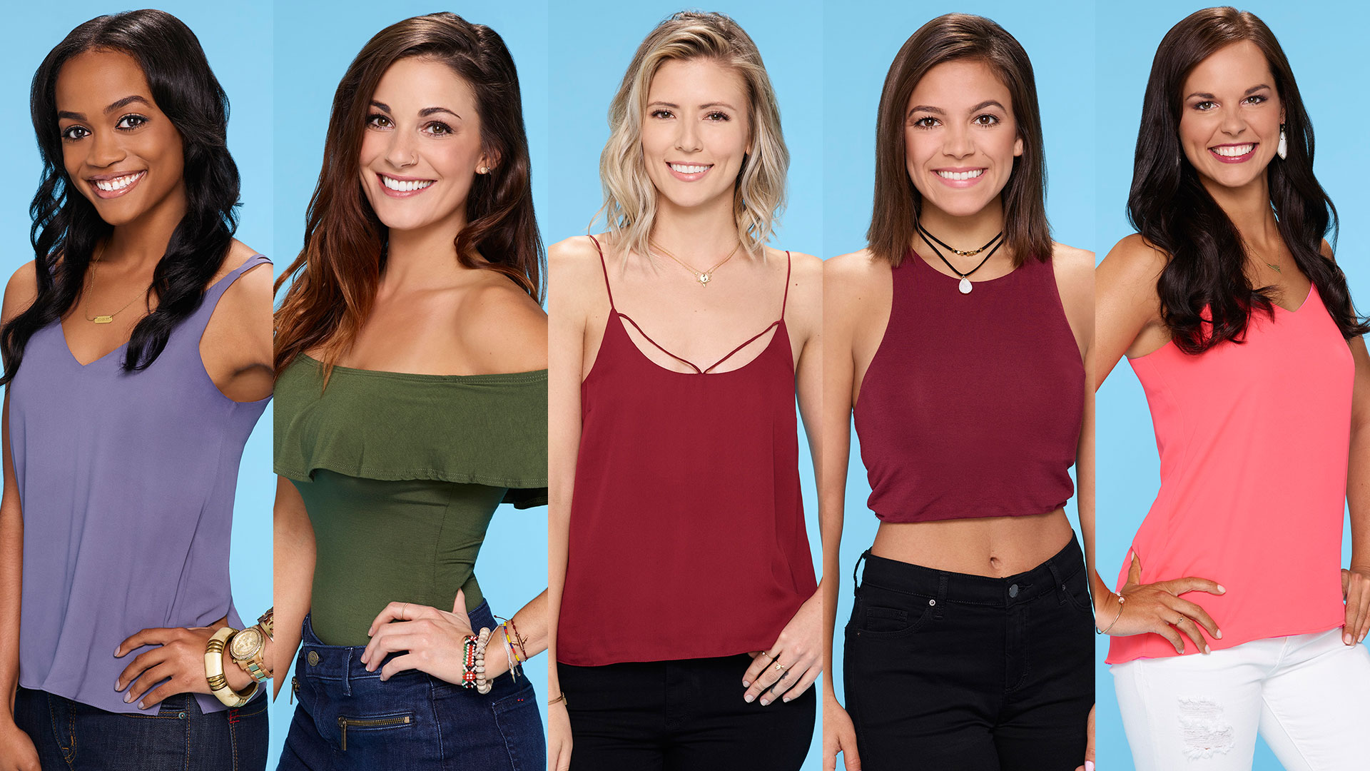Rachel, Liz, Danielle, Brittany, Briana on The Bachelor