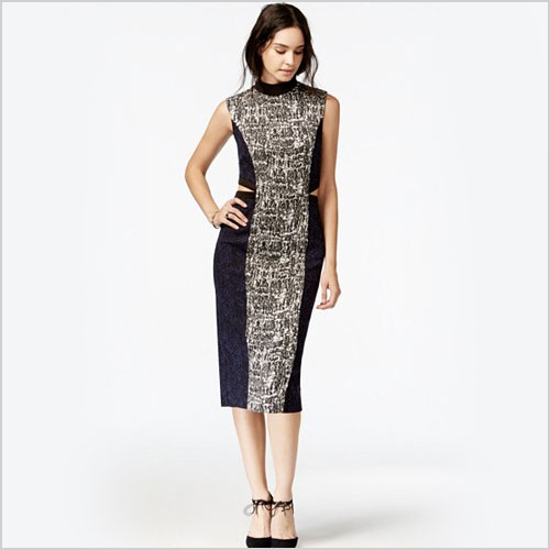 Rachel by Rachel Roy Printed Cutout Bodycon Dress