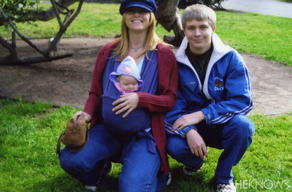 Rachel Hope with her son Jesse and daughter Grace