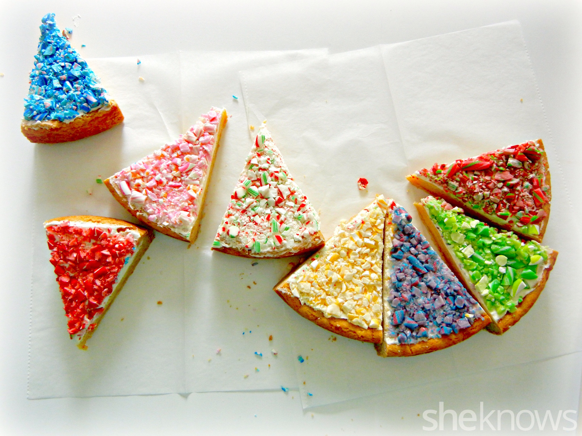 rainbow candy cane sugar cookie cake
