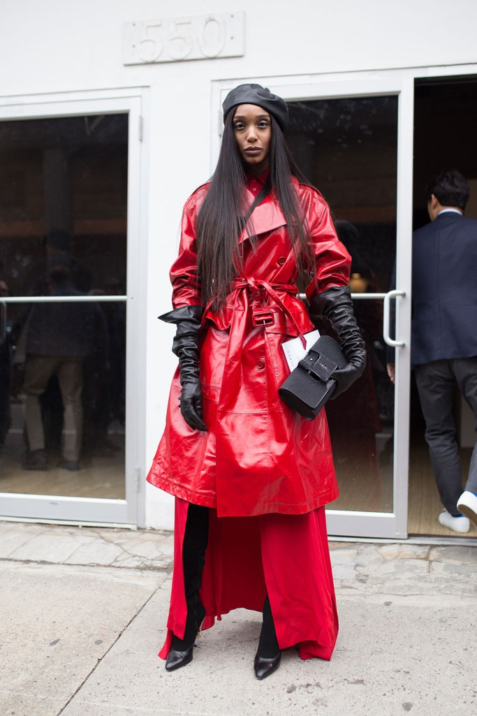 Dressing More Original: Red Leather Trench