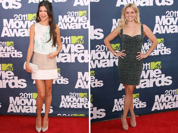 Reese Witherspoon and Selena Gomez at the 2011 MTV Movie Awards
