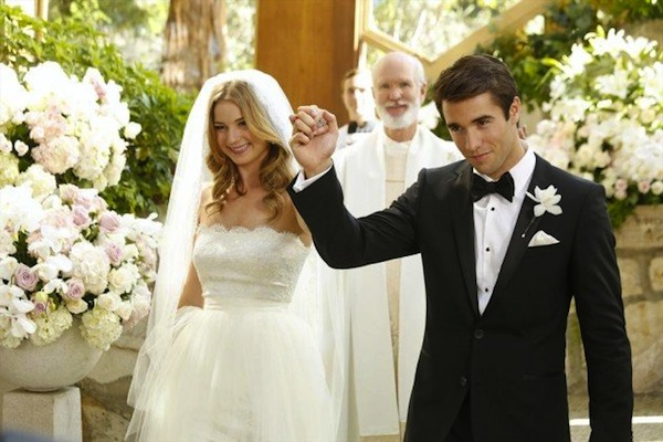 Emily and Daniel as man and wife on Revenge