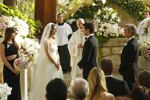 Daniel and Emily say their vows on Revenge