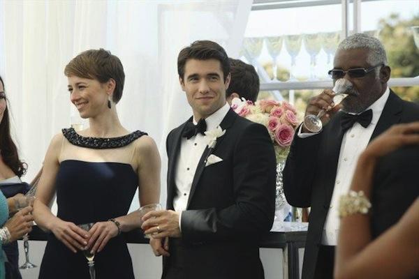 Daniel and Margo at the wedding reception on Revenge
