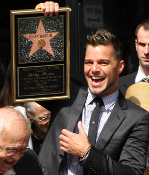 Ricky Martin gets a star and his twins are fab!