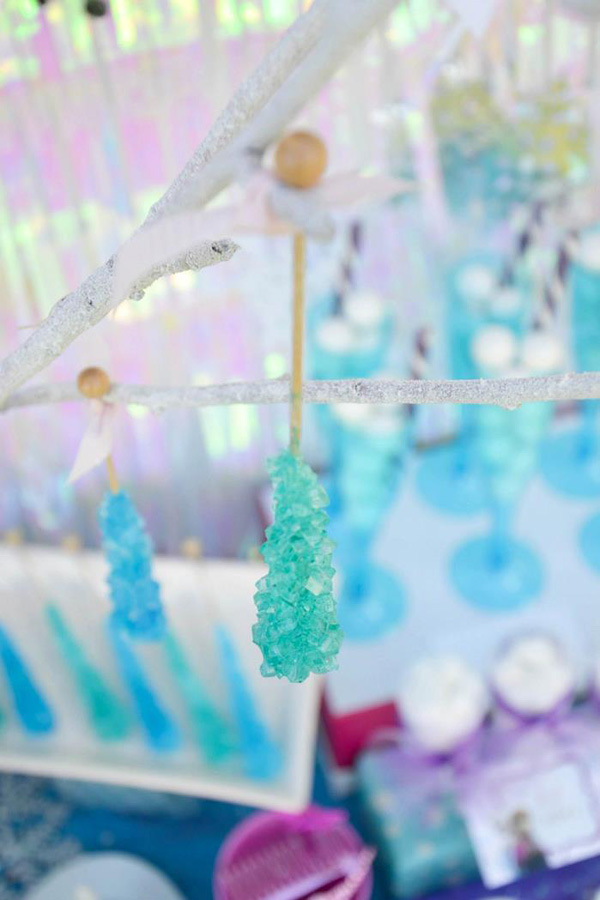 Candy rock icicles