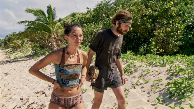 Gabby Pascuzzi on the beach in 'Survivor: David vs. Goliath'