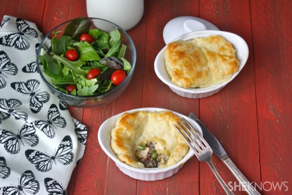 Sunday dinner: Chicken and mushroom pies