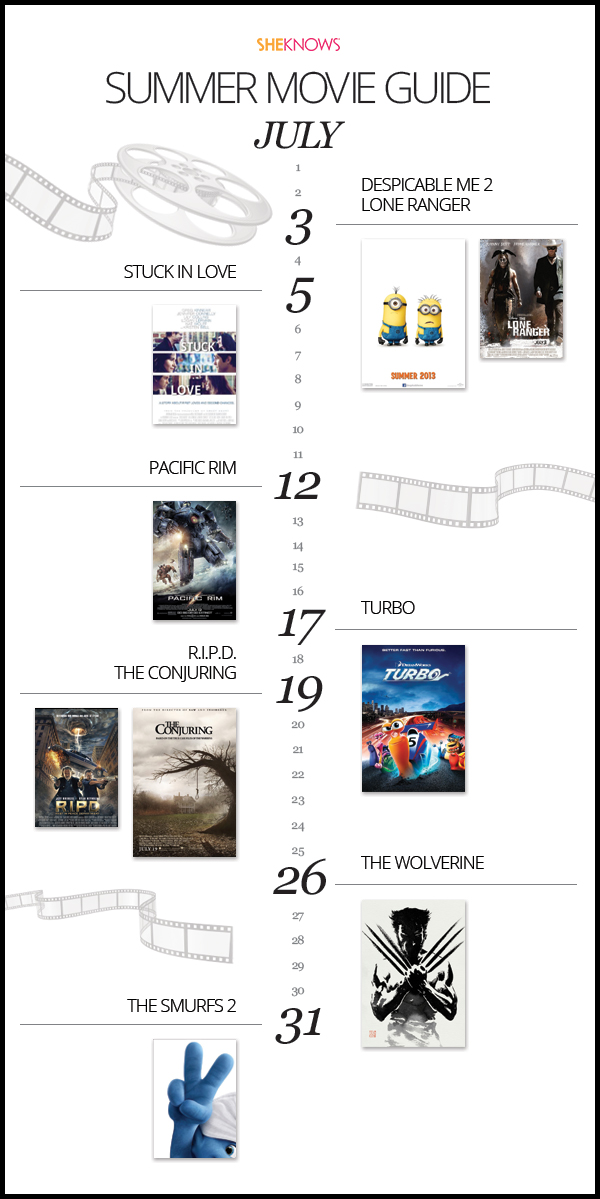 July Summer Movie Guide 2013