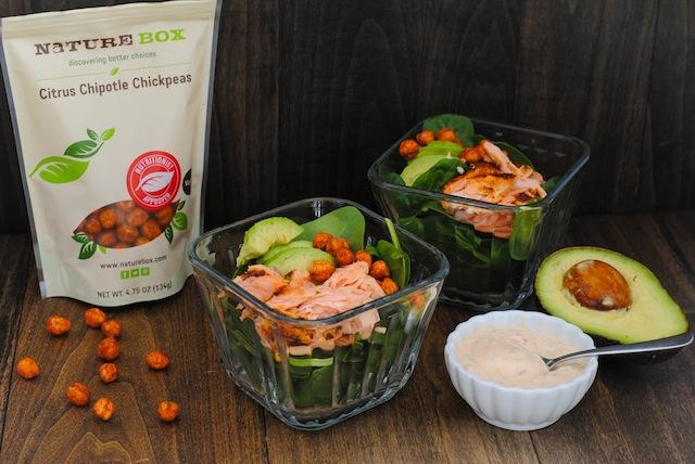 salmon crispy salad