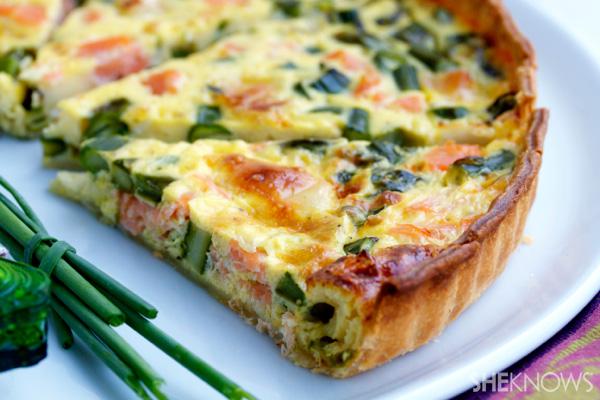 Salmon, asparagus & brie quiche | Sheknows.com