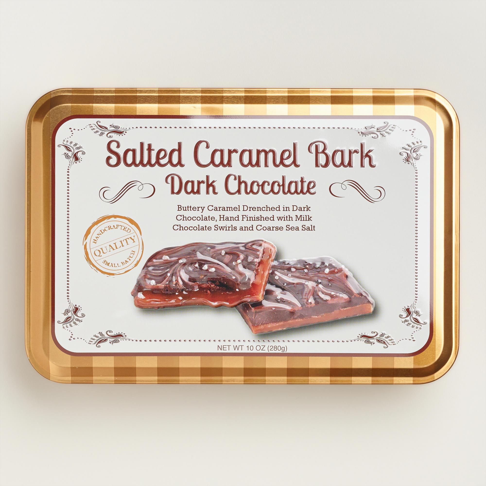 Salted Caramel Dark Chocolate Bark