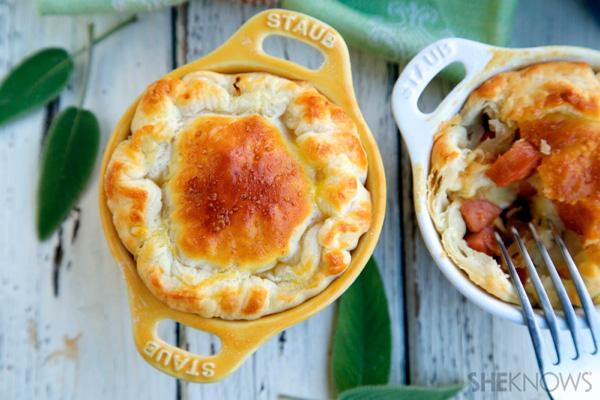 Sauerkraut and sausage mini pies