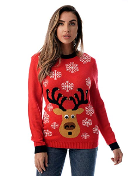 photo of women's ugly christmas sweater