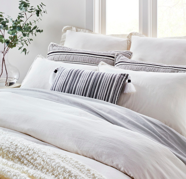 photo of joanna gaines hearth & hand bedding