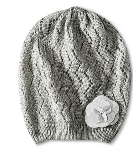 pretty gray knit beanie hat Target