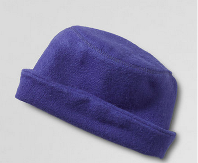 blue rolltop hat