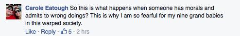 Facebook Duggar Message