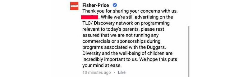 No More Duggars Fisher-Price