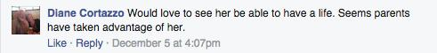 Jana Duggar Facebook comment