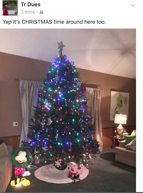 TR Dues Christmas Tree Photo