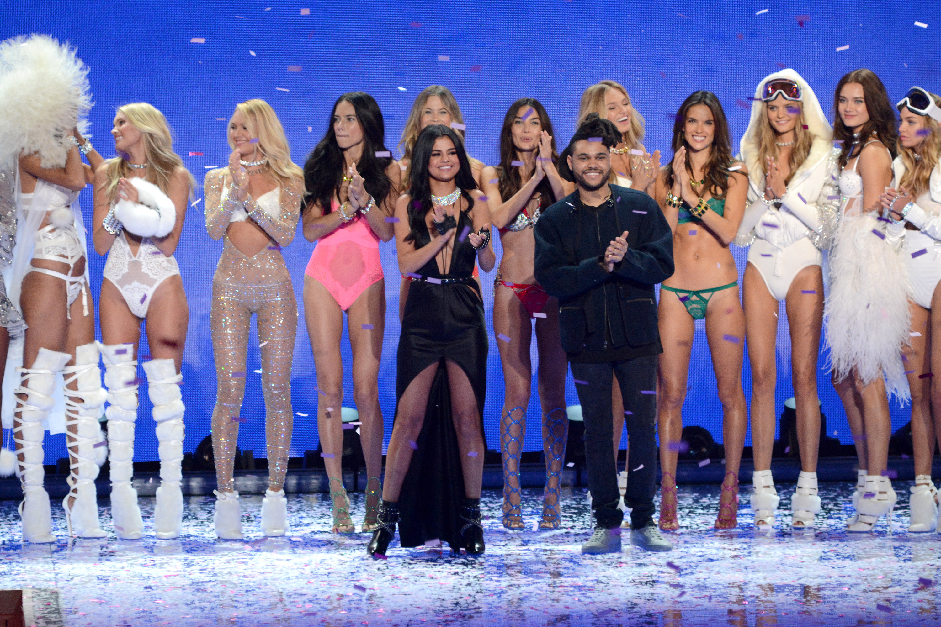 Selena Gomez and The Weekend at the 2015 Victoria's Secret Fashion Show