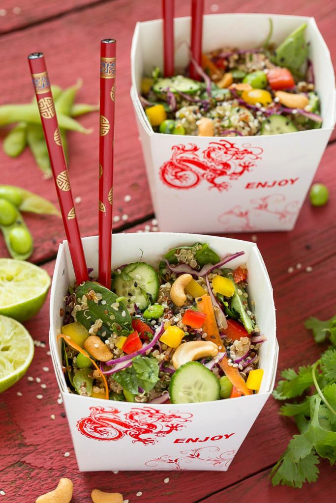 sesame lime quinoa salad