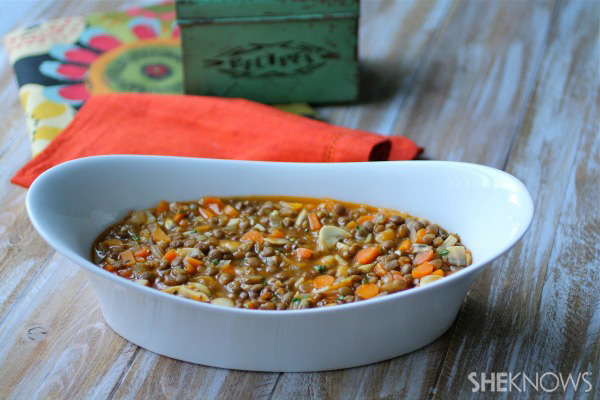 Lentil and veggie shepherd's pie