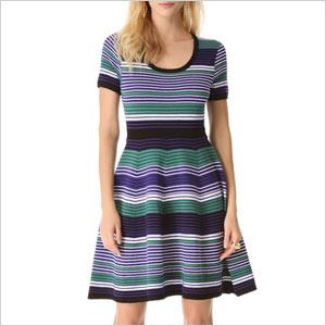 Shoshana Striped Aviva Dress