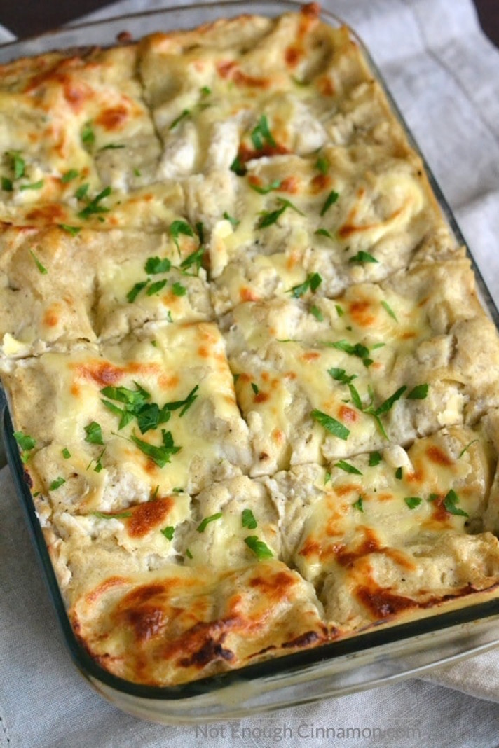 13 Make-Ahead Freezer Meals for Nights When You Just Can't: Chicken Alfredo Lasagna