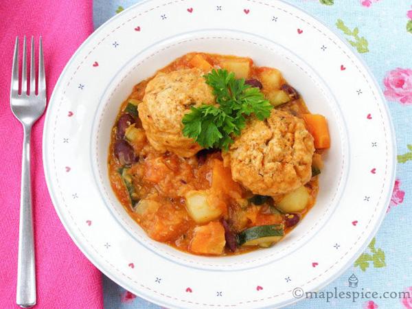 Smoky Red bean Dumpling Soup