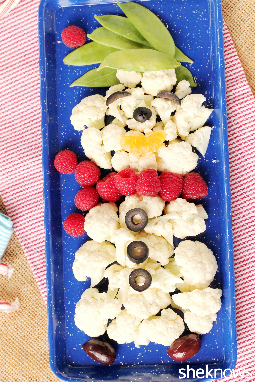 Snowman veggies 1