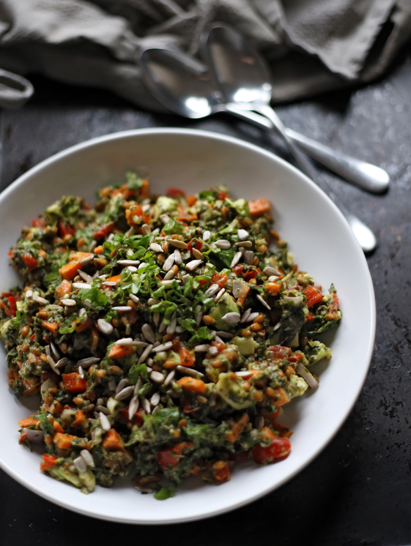 http://www.oliviascuisine.com/spelt-salad-with-navy-beans-cherry-tomatoes-and-cucumber/