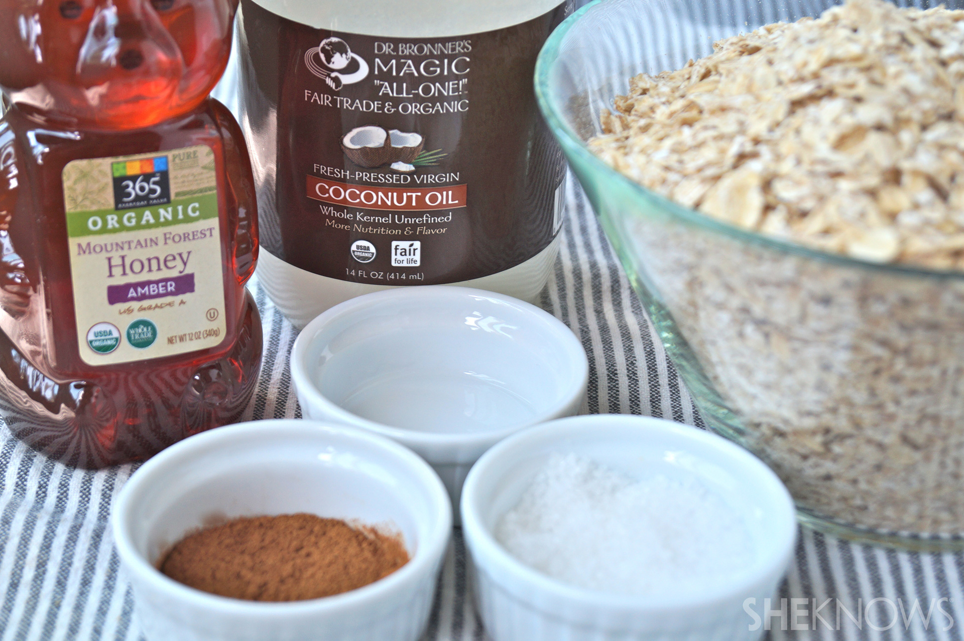 Spiced Cinnamon Granola ingredients