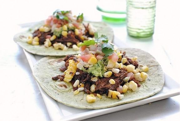 spicy barbacoa soft tacos