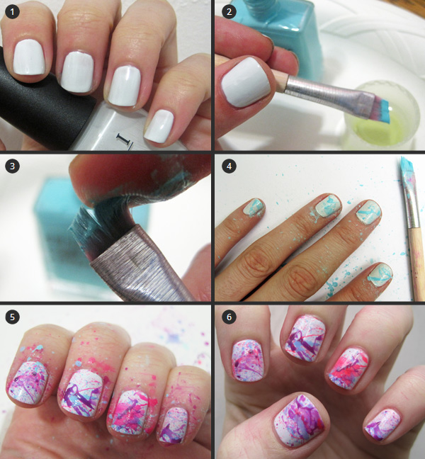 Nail art tutorial: splatter manicure