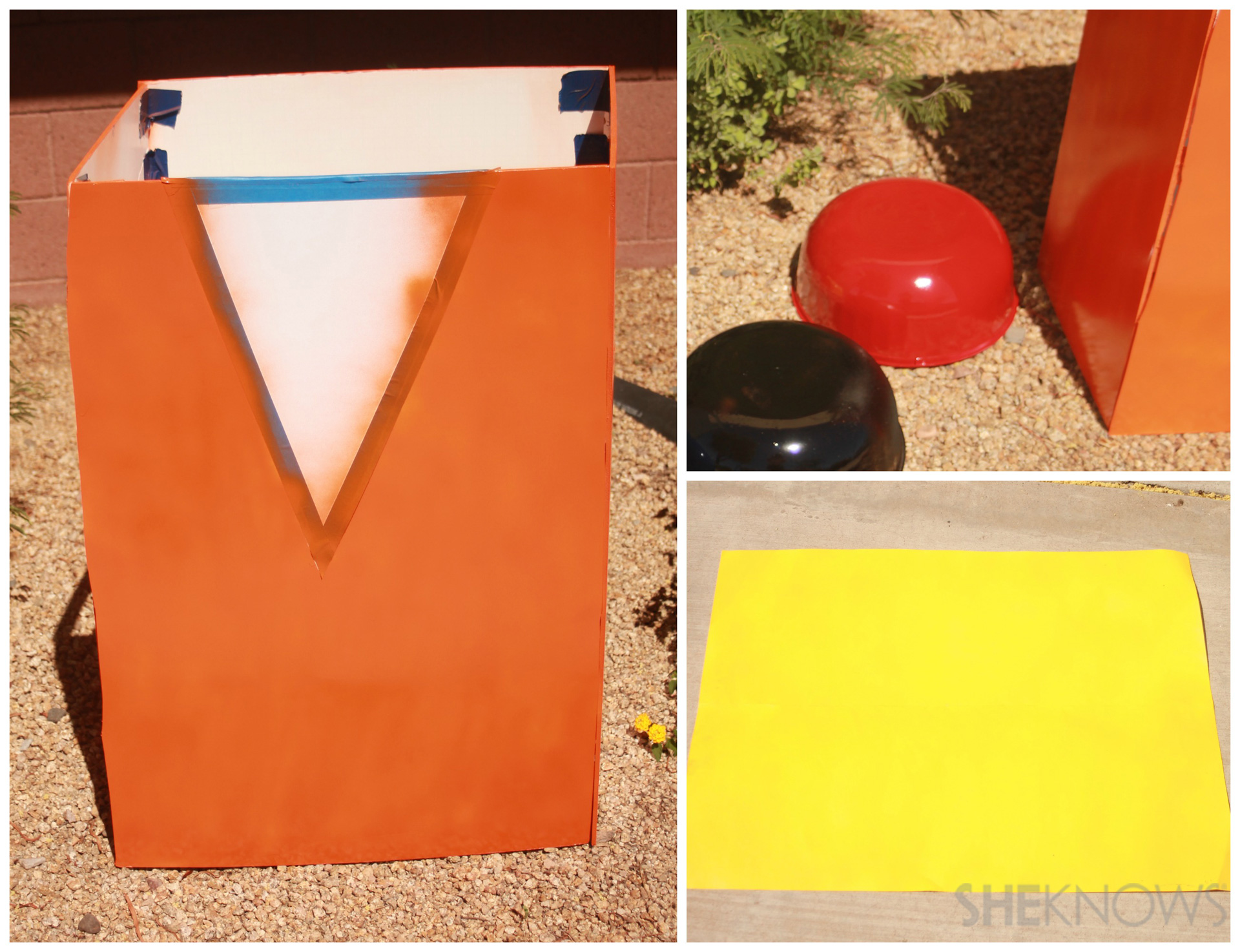 Step 2:Spray paint and allow to dry