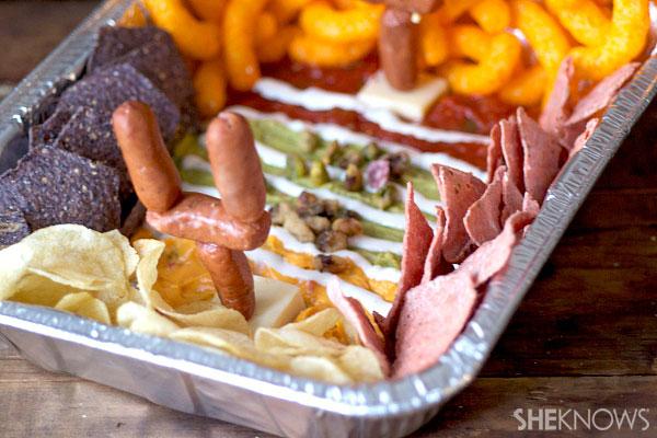 Super Bowl stadium appetizer platter