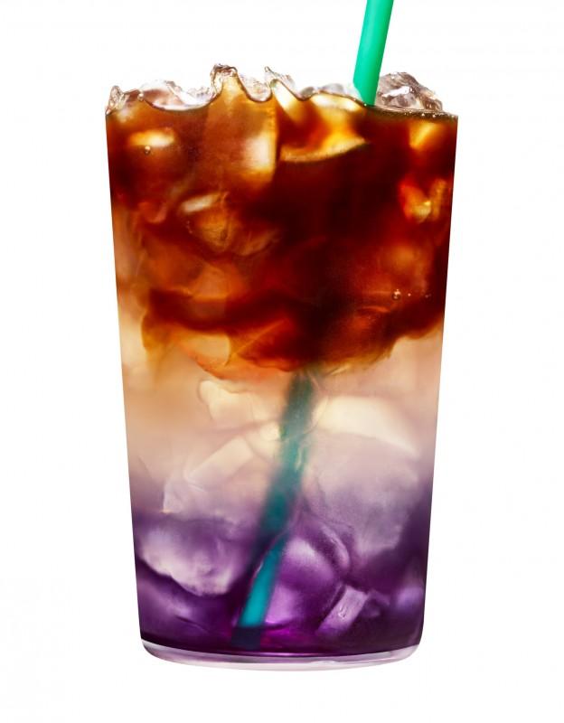 Butterfly pea lemonade cold brew Starbucks