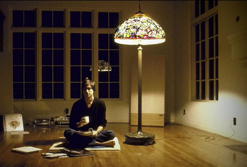 Steve Jobs with a Tiffany lamp