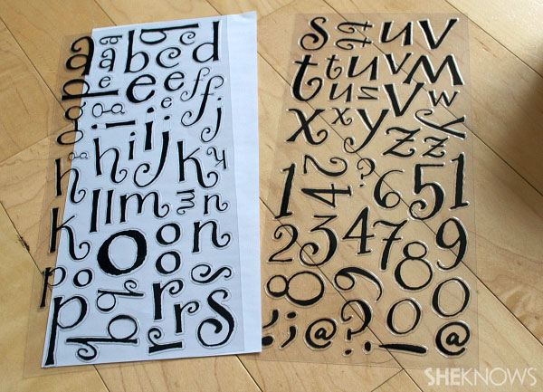 stick on letters