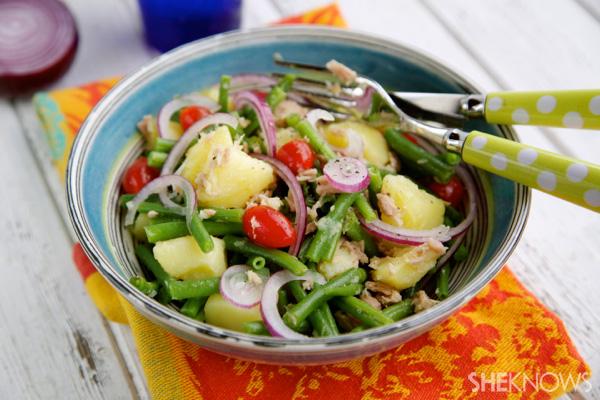 Stringbeans, potatoes & tuna salad
