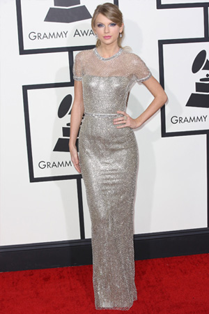 Taylor Swift's Silver Suit of Armor Gucci Gown