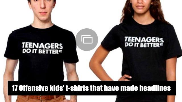 Offensive kids' t-shirts